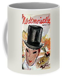 Mademoiselle Cover Featuring A Female Equestrian Coffee Mug