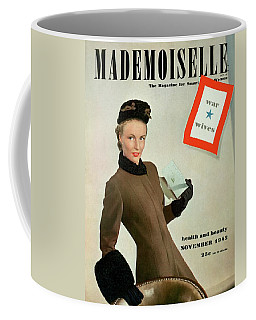 Mademoiselle Cover Featuring A Model As A War Coffee Mug