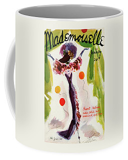 Mademoiselle Cover Featuring A Model Wearing Coffee Mug