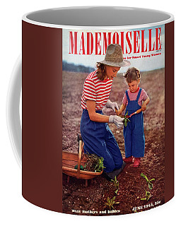 Mademoiselle Cover Featuring A Mother And Baby Coffee Mug