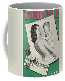 Mademoiselle Cover Featuring A Mother Holding Coffee Mug