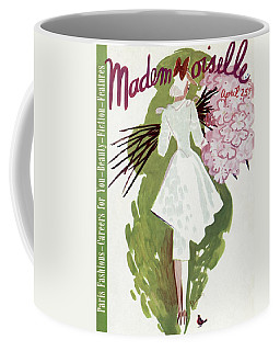 Mademoiselle Cover Featuring A Woman Carrying Coffee Mug