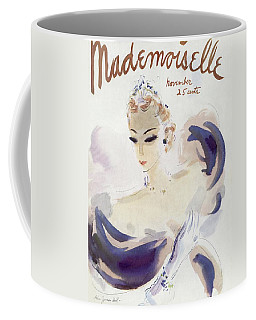 Mademoiselle Cover Featuring A Woman In A Gown Coffee Mug