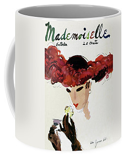 Mademoiselle Cover Featuring A Woman In A Red Coffee Mug