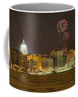 Madison Skyline New Years Eve Coffee Mug