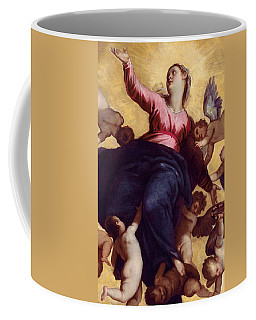 Madonna Carried By Angels Coffee Mug