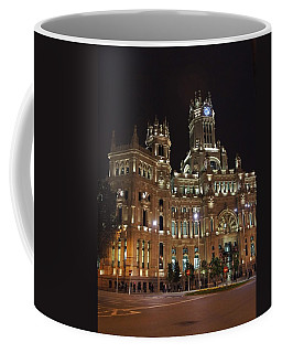 Madrid City Hall At Night Coffee Mug