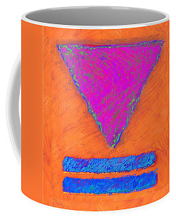 Magenta Triangle On Orange Coffee Mug