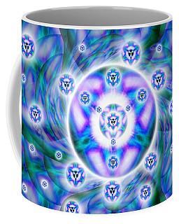 Coffee Mug featuring the drawing Magnetic Fluid Harmony by Derek Gedney