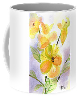 Coffee Mug featuring the painting Magnolias Gentle by Kip DeVore