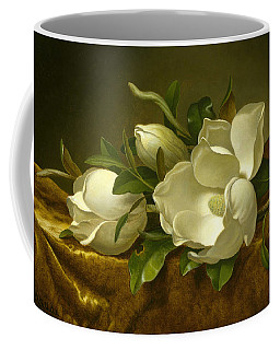 Magnolias On Gold Velvet Cloth Coffee Mug