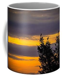 Magpies At Sunrise Coffee Mug