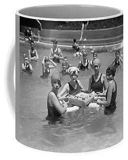 Mah-jong In The Pool Coffee Mug