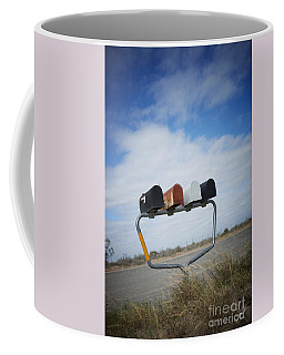 Coffee Mug featuring the photograph Mailboxes by Erika Weber