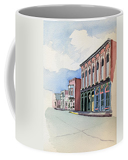 Coffee Mug featuring the painting Main Street In Gosport by Katherine Miller
