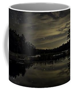 Maine Beaver Pond At Night Coffee Mug