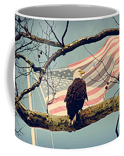 Coffee Mug featuring the photograph Majestic And Free Vintage by Trina  Ansel