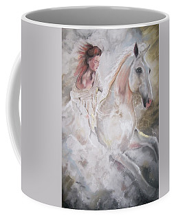 Coffee Mug featuring the pastel Majestic Flow by Peter Suhocke
