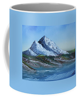 Coffee Mug featuring the painting Majestic Peaks by Jennifer Muller