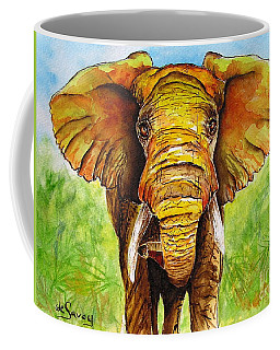 Coffee Mug featuring the painting Major Domo by Diane DeSavoy