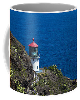 Coffee Mug featuring the photograph Makapuu Lighthouse 1 by Leigh Anne Meeks