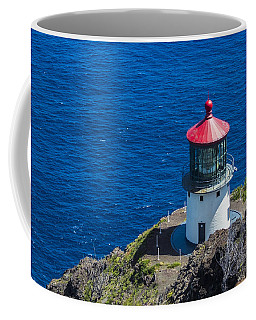 Coffee Mug featuring the photograph Makapuu Lighthouse 3 by Leigh Anne Meeks