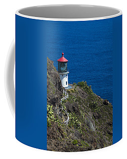 Coffee Mug featuring the photograph Makapuu Lighthouse2 by Leigh Anne Meeks