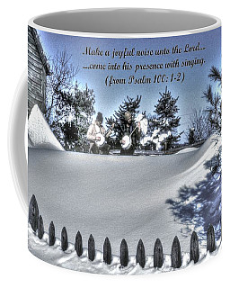 Make A Joyful Noise - Psalm 100.1-2 - From Pickin 'n Driftin Coffee Mug by Michael Mazaika