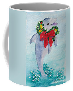 Coffee Mug featuring the painting Make A Splash by Diane DeSavoy