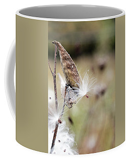 Coffee Mug featuring the photograph Make A Wish - Milkweed In Autumn by Brooke T Ryan