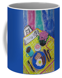 Coffee Mug featuring the painting Makin' His Move by Diane Pape