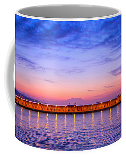 Coffee Mug featuring the photograph Malaga Pink And Blue Sunrise  by Debra Martz