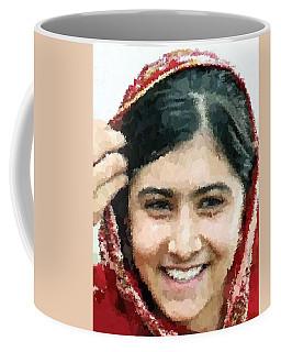 Malala Yousafzai Portrait Coffee Mug