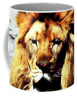 Coffee Mug featuring the painting Male African Lion 2 by Jennifer Muller