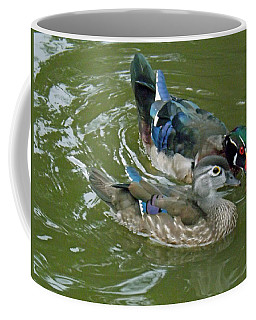 Male And Female Wood Ducks Coffee Mug