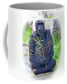 Coffee Mug featuring the photograph Male Ape by Jim Fitzpatrick