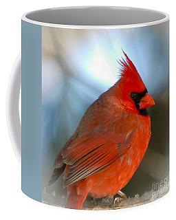 Male Cardinal  Coffee Mug by Kerri Farley