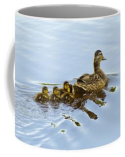 Mallard And Chicks  Coffee Mug by Chris Flees