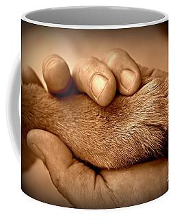 Man And Dog Coffee Mug