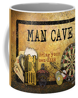 Man Cave-bring Your Own Beer Coffee Mug by Jean Plout