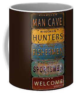 Man Cave-license Plate Art Coffee Mug by Jean Plout
