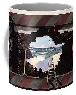 Man Escapes Coffee Mug