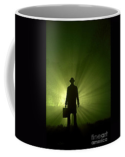 Coffee Mug featuring the photograph Man In Light Beams by Lee Avison