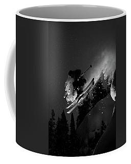 Man Jumping On Skis Coffee Mug