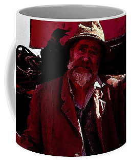 Coffee Mug featuring the digital art Man Of The Sea by Cathy Anderson