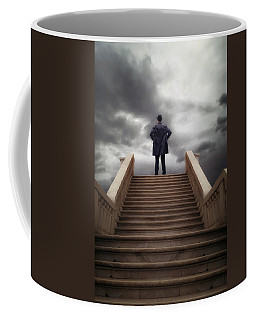 Man On Stairs Coffee Mug