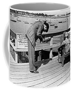 Man Photographs Sleeping Girl Coffee Mug