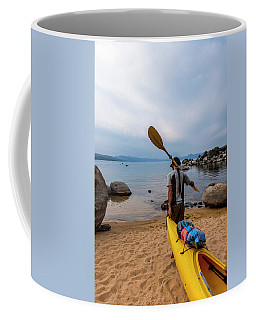 Man With A Paddle Over His Shoulder Coffee Mug