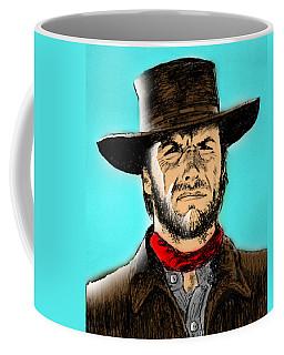 Coffee Mug featuring the mixed media Clint Eastwood by Salman Ravish