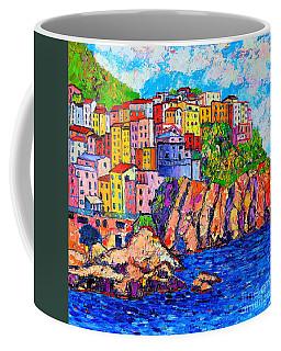 Manarola Cinque Terre Italy Detail Coffee Mug by Ana Maria Edulescu